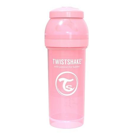Twistshake Antykolkowa butelka do karmienia 330ml pastelowy róż