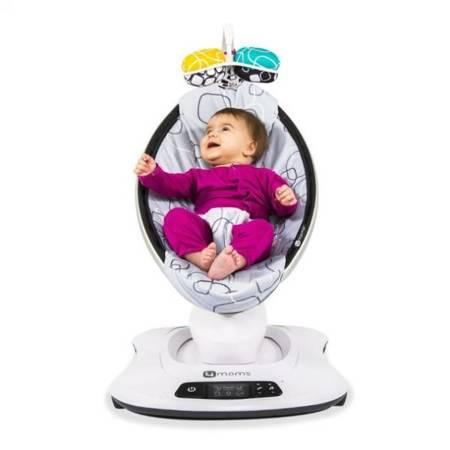 4moms Fotelik leżaczek bujaczek dla niemowląt mamaRoo Plush Silver