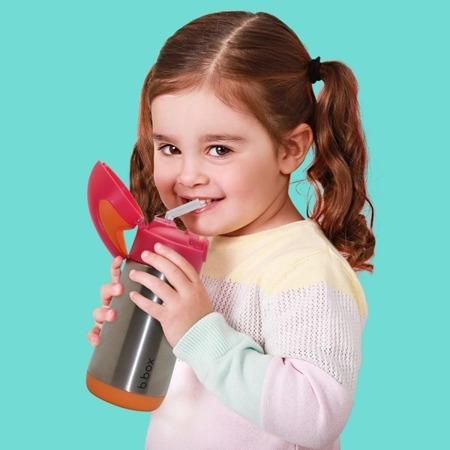 B.Box termobutelka ze słomką strawberry shake 350 ml