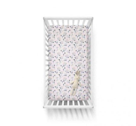 Baby Steps Bawełniane prześcieradło 60/120 cm Kwiaty