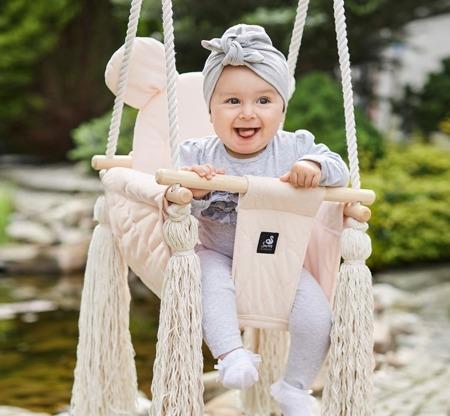 Baby Steps Huśtawka VelvetSwing Soft Pink