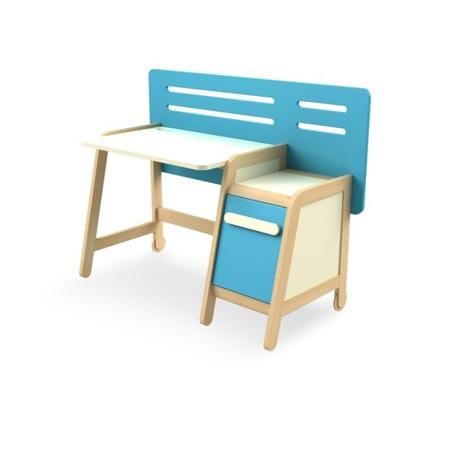 Biurko z kontenerkiem niebieskie Timoore Simple