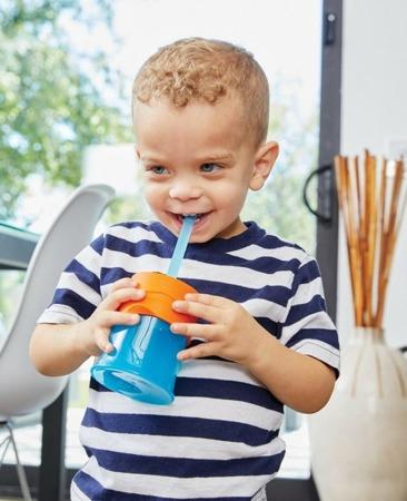 Boon Snug Zestaw 6 silikonowych słomek i czyścik