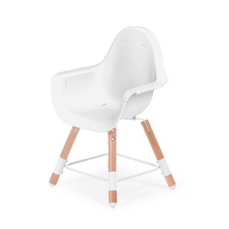 Childhome Krzesełko do karmienia 2w1 Evolu 2 drewno - biały