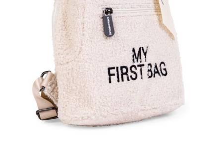 Childhome Plecak dziecięcy My First Bag Teddy Bear White