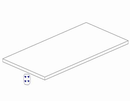Dodatkowa półka do szafy 2 - drzwiowej Pinio Marsylia MDF