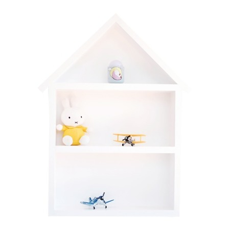 Dziecięca półeczka duży domek, Biały