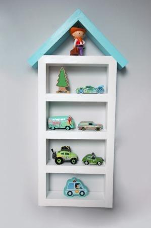 Dziecięca półka Garaż domek średni