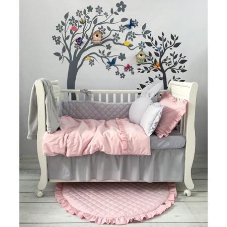 Falbanka pod materac na całe łóżeczko 60/120 szara, Dolly