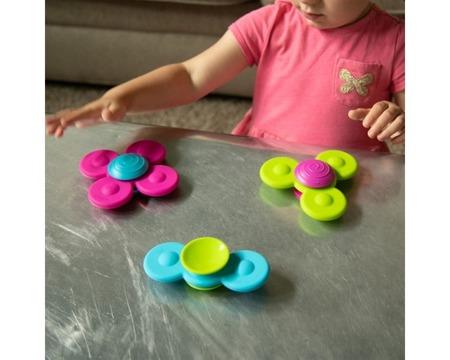 Fat Brain Toys Wirujące przyssawki dla maluszka Whirly Squigz