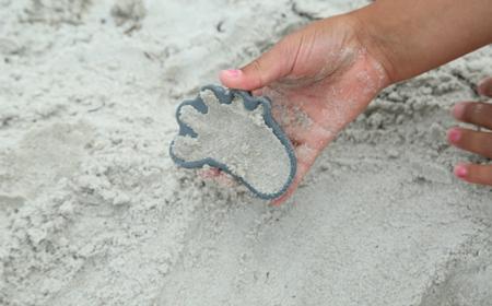 Funkit World Foremki do piasku Scrunch silikonowe granatowe