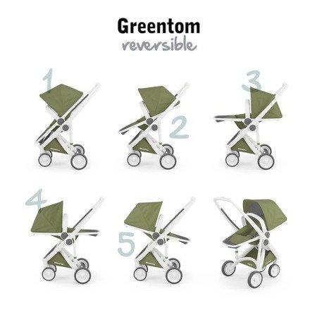 Greentom 2w1 CARRYCOT + REVERSIBLE Wózek eko biało-szary