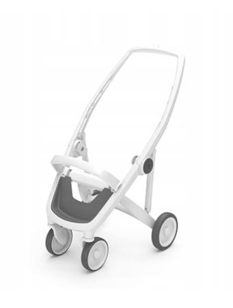 Greentom Classic Wózek spacerowy EKO biało-czarny