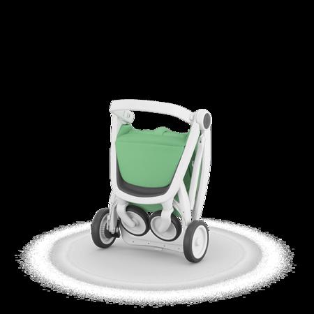 Greentom Classic Wózek spacerowy EKO biało-miętowy