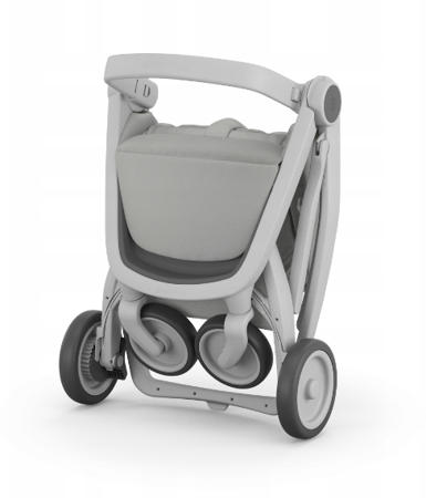 Greentom Classic Wózek spacerowy EKO szaro-miętowy