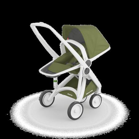 Greentom  REVERSIBLE Wózek spacerowy eko biało-oliwkowy