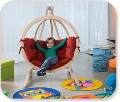 Huśtawka dziecięca, fotel Kids Globo, Amazonas