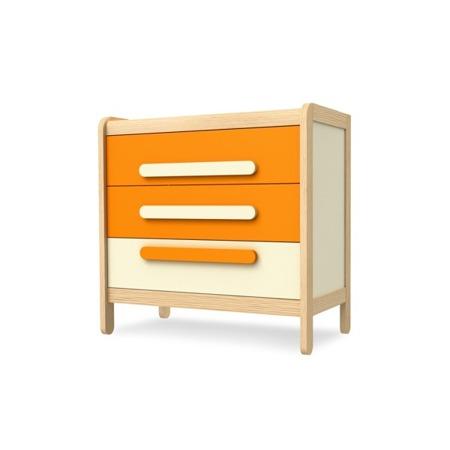 Komoda z 3 szufladami pomarańczowa Timoore Simple