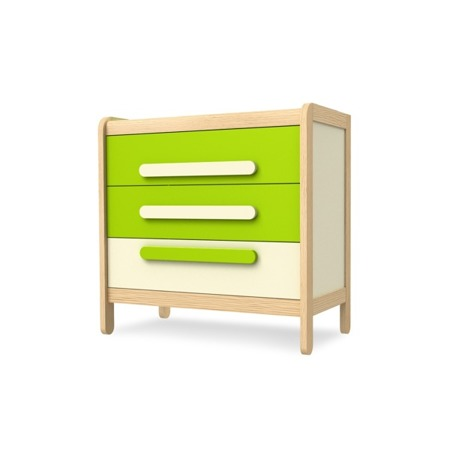 Komoda z 3 szufladami zielona Timoore Simple