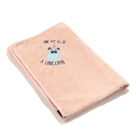 La Millou Ręcznik Bamboo Soft Newborn Doggy Unicorn powder pink