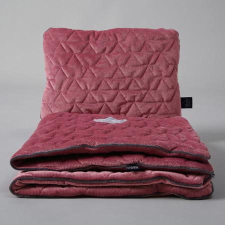 La Millou Velvet Collection, Kocyk pikowany z poduszką/Mulberry
