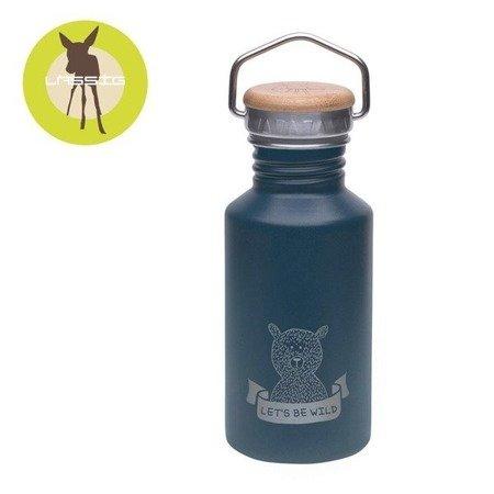 Lassig Bidon ze stali nierdzewnej z dodatkowym ustnikiem ze słomką Adventure blue 500 ml