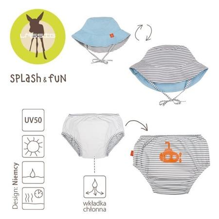 Lassig Zestaw kapelusz i majteczki do pływania z wkładką chłonną Submarine UV 50+ 12 m-cy