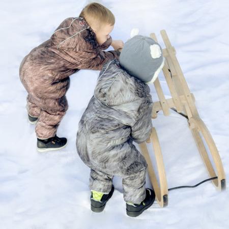 Lodger Skier Botanimal Kombinezon zimowy dla niemowlaka Nutty Fur 3-6 m-cy