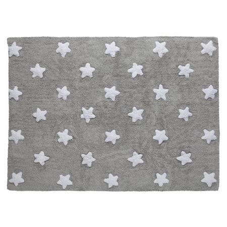 Lorena Canals Linen Stars White 120x160cm