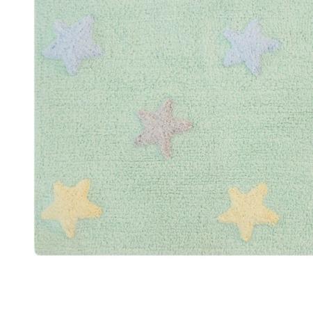 Lorena Canals Tricolor Star Soft/Mint 120x160cm