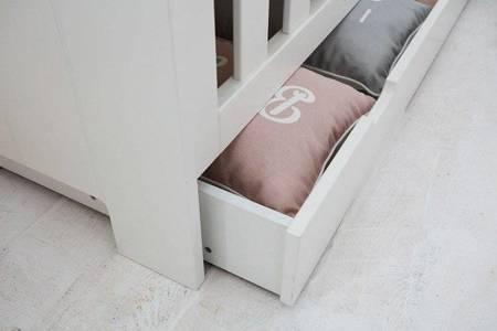 Łóżeczko-tapczanik z szufladą 140x70 Szare Pinio Calmo