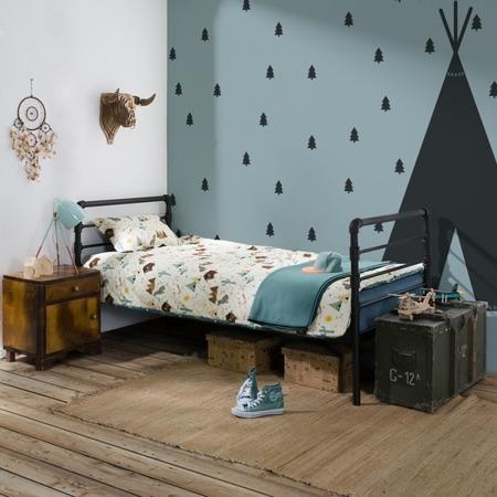 Łóżko industrialne młodzieżowe Nexus 120/200 czarne