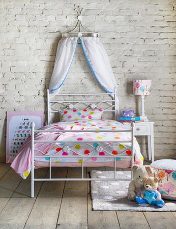 Łóżko metalowe młodzieżowe Floris 120/200 turkusowe