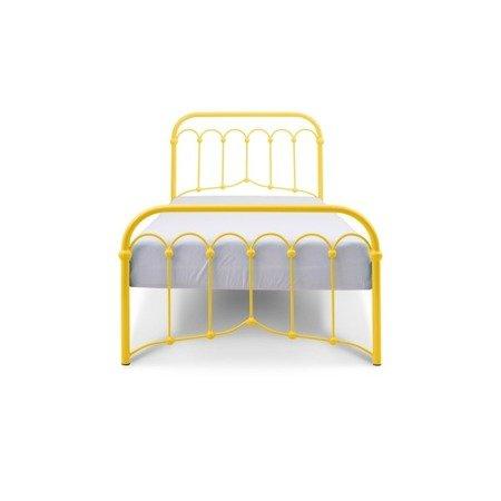 Łóżko metalowe dziecięce Avia 90/200 żółte