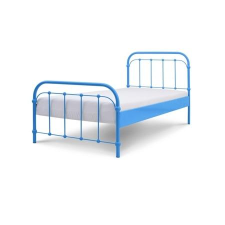 Łóżko metalowe dziecięce Babunia 90/200 niebieskie