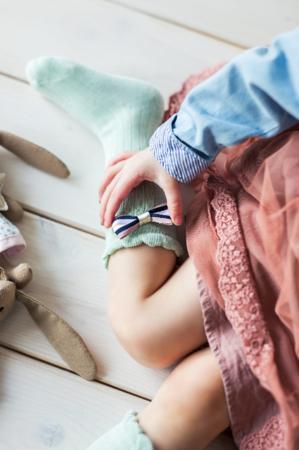 Mama's Feet Podkolanówki dziecięce Miętowa Księżniczka 4-6 lat