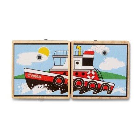 Melissa & Doug Klocki puzzle dźwiękowe Pojazdy