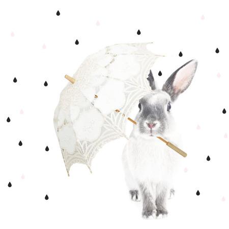 Naklejka Królik Harry w deszczu M, Dekornik