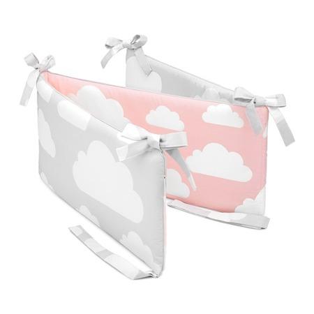 Ochraniacz do łóżeczka Chmurki Pink&Grey