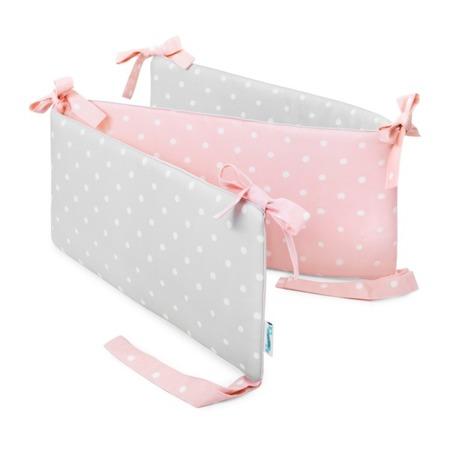 Ochraniacz do łóżeczka Lovely Dots Pink&Grey