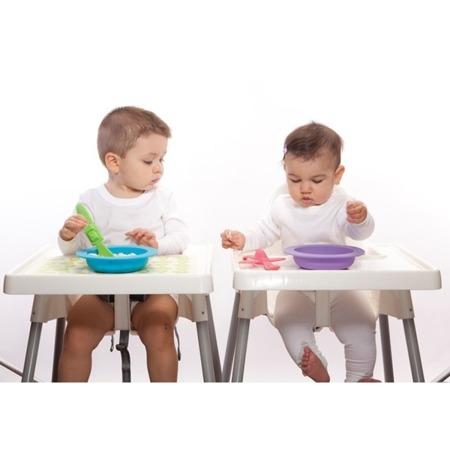 Oogaa Zestaw do nauki jedzenia fioletowy