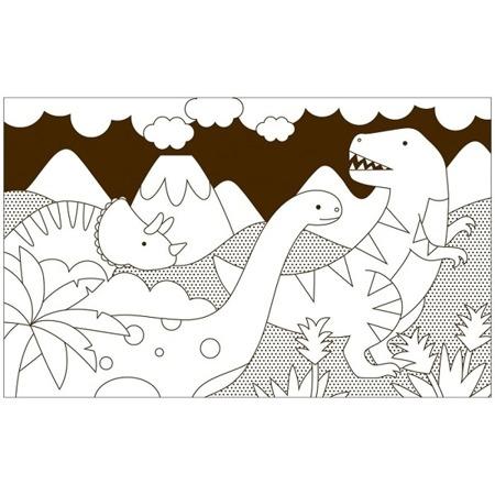 Petit Collage Kolorowanka Dinozaury