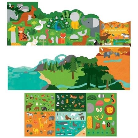 Petit Collage Naklejki wielorazowe My Animal World