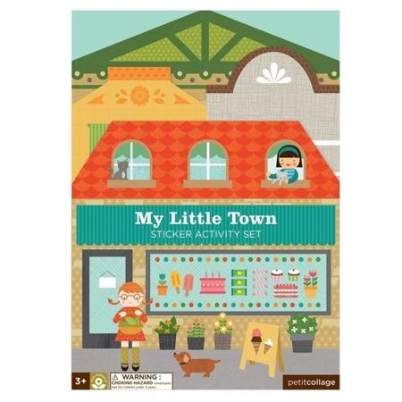 Petit Collage Naklejki wielorazowe My Little Town