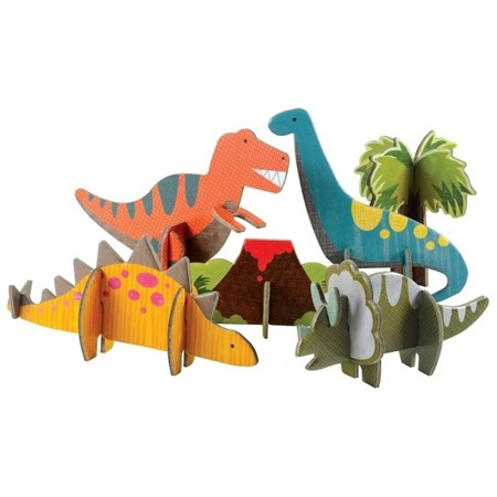 Petit Collage Puzzle Przestrzenne Dinozaury