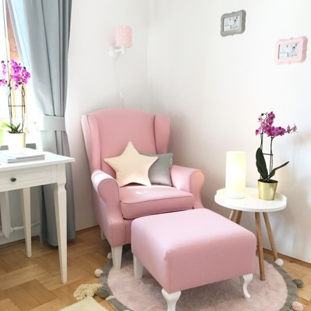 Podnóżek do fotela Uszak / różne kolory