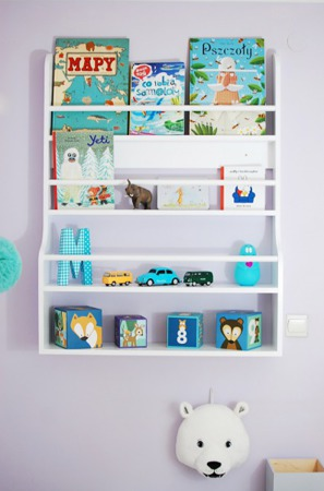 Półka ścienna 4 szufladki Kameleon, kolory