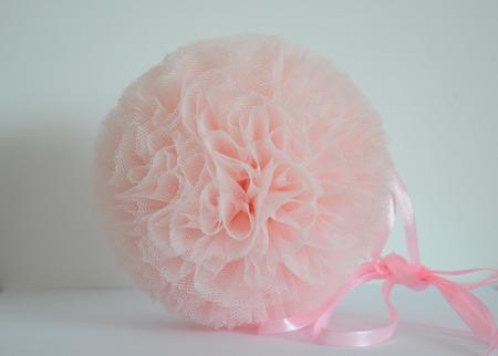 Pompon tiulowy Jasnoróżowy 30 cm, handmade