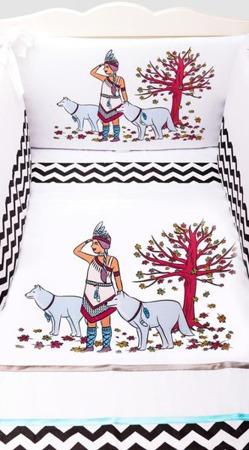 Pościel do łóżeczka 3-elementowa, Indianka 135x100cm