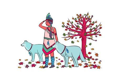 Pościel dziecięca Indianka, 135x100cm
